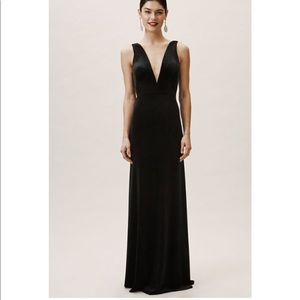 Anthropologie BHLDN Logan Velvet Dress